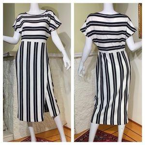 NWOT Massimo Dutti Black & White Dress